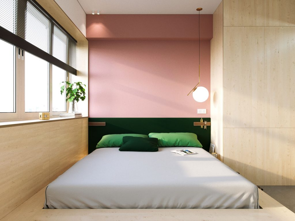 Super compact spaces a minimalist studio apartment under - Small apartment bedroom ideas ...