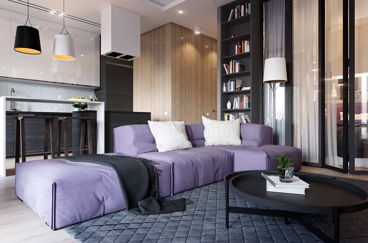 2 One Bedroom Apartments With Modern Color Schemes