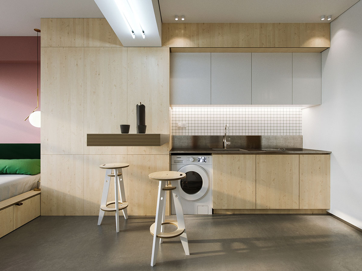 Super Compact Spaces A Minimalist Studio Apartment Under Interiors Inside Ideas Interiors design about Everything [magnanprojects.com]