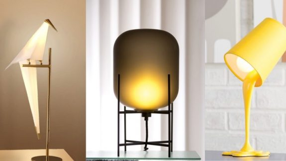 20 Uniquely Cool Bedside Table Lamps That Add Ambience
