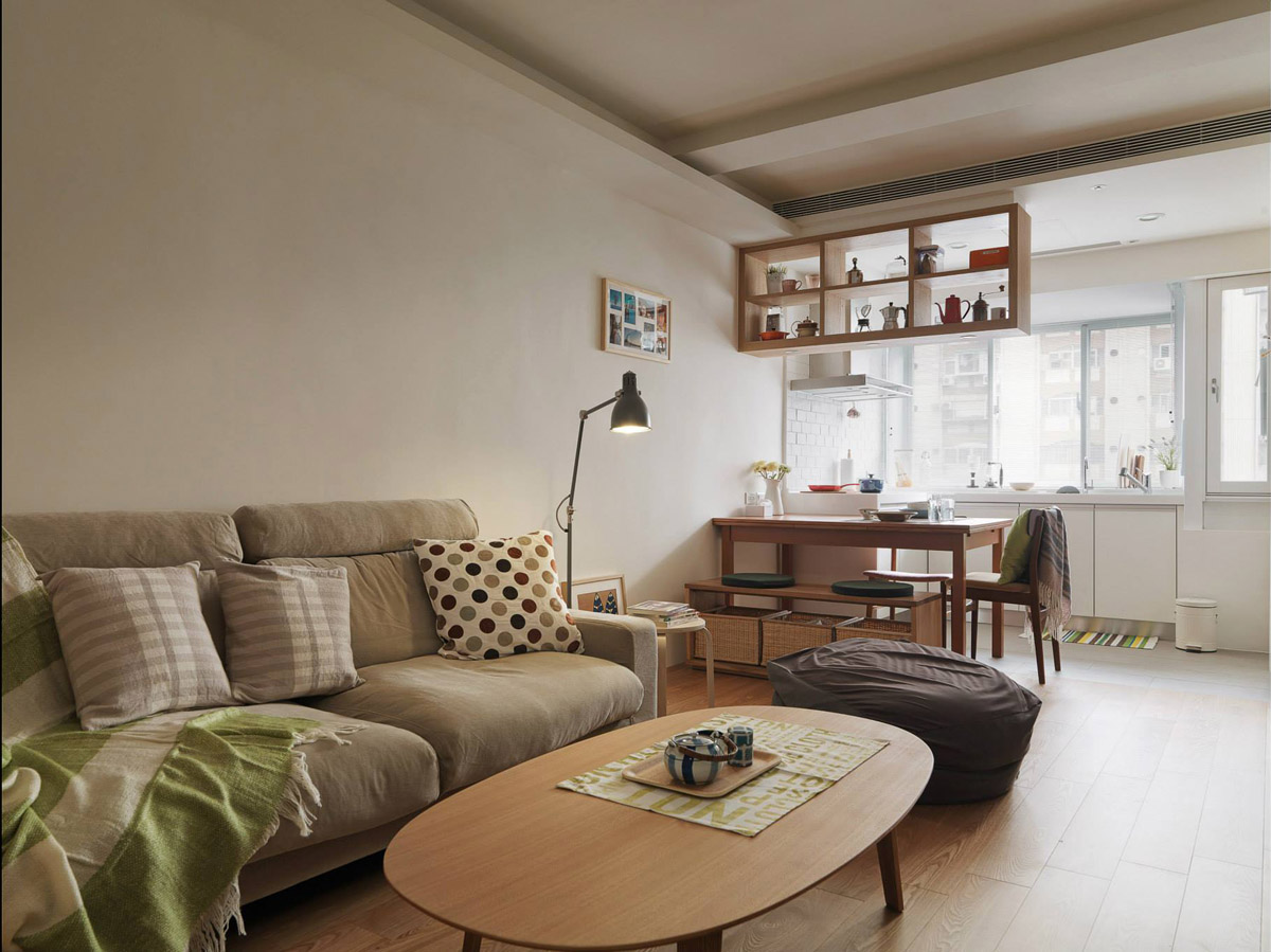 Home designing 3 small apartments that make the best of for Cute living room sets