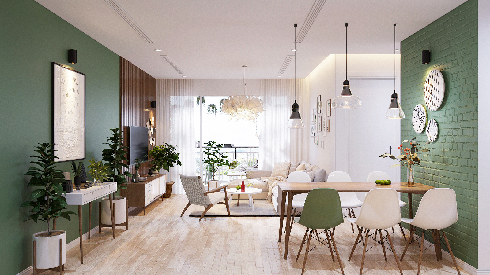 modern scandinavian style home design for young families 2 examples. Black Bedroom Furniture Sets. Home Design Ideas