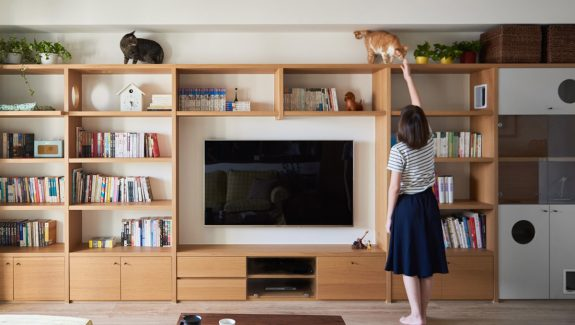 A Cute Vintage-Inspired House with Lots of Space for Kitties