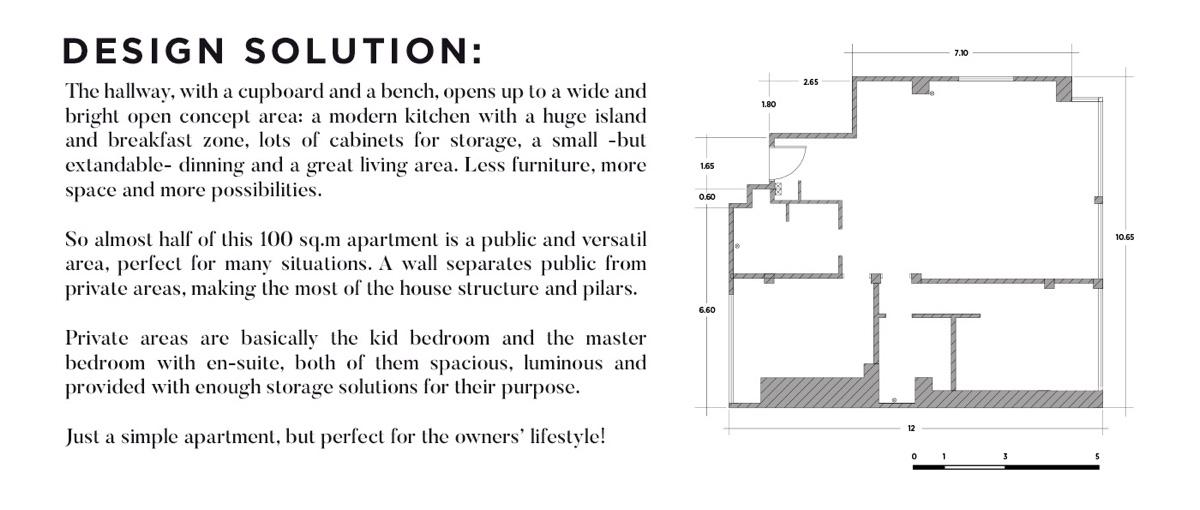 2-Bedroom Modern Apartment Design Under 100 Square Meters: 2