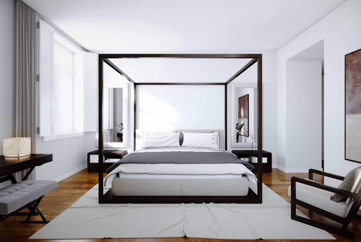 32 White Bedrooms That Exude Calmness Interiors Inside Ideas Interiors design about Everything [magnanprojects.com]