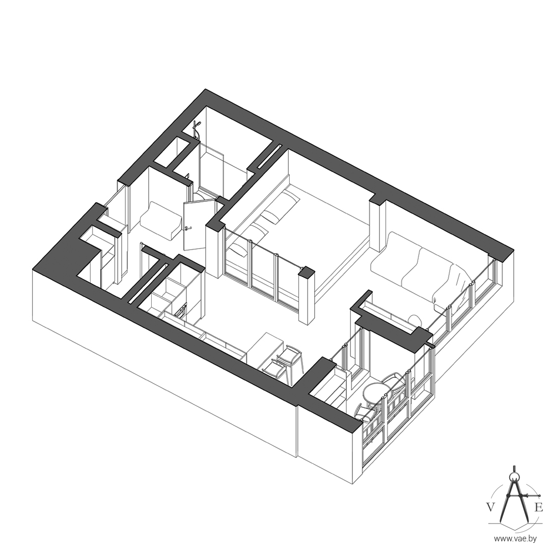 Home designing 3 small apartments that make the best of for Small studio apartment floor plans