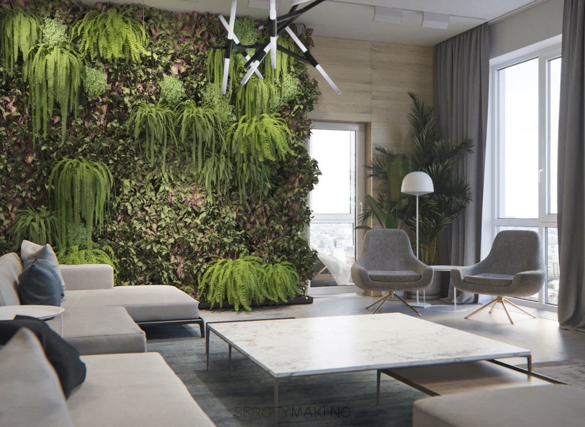 Home Designing Minimalist Interior Design With Green Plant Accents Contemporary Designers