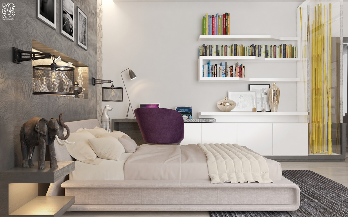 Bedrooms Bookshelves 22 Inspirational Examples For Those Who Love To Sleep Near Their Books