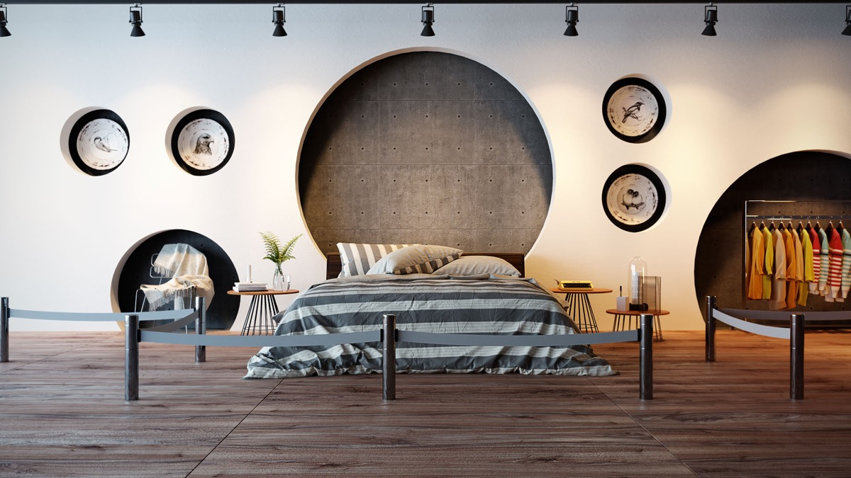 44 Awesome Accent Wall Ideas For Your Bedroom on Creative Wall Design Ideas  id=21771