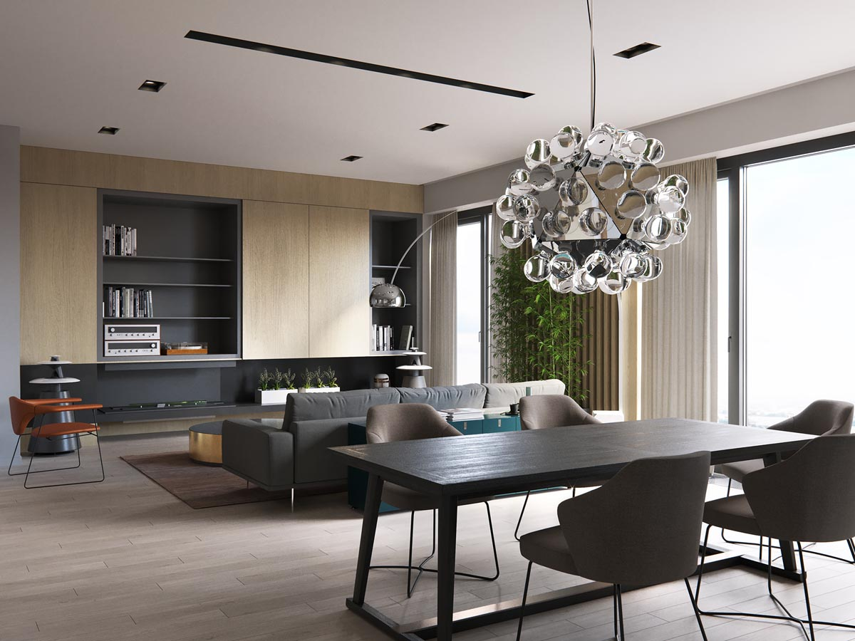 The Minimalist Chairs And Very Simple Table Make The Room Feel That Much  More Spacious And Add A Sophisticated Touch Of Simplicity.
