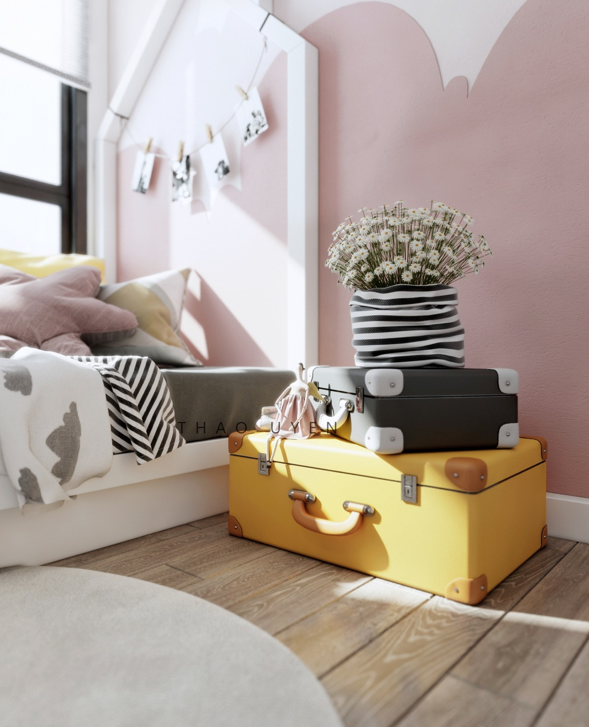 How To Use Pink Tastefully In A Kid S Room Without Over