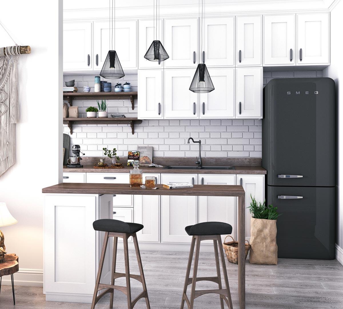 Black smeg fridge   Interior Design Ideas