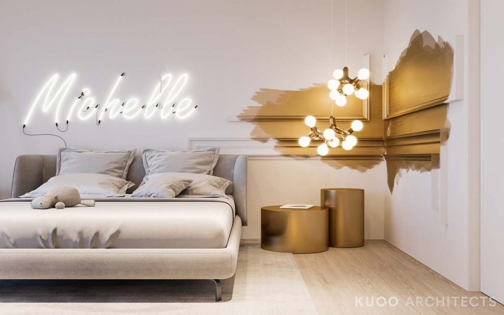 Ritzy uk home with glam metallic accents
