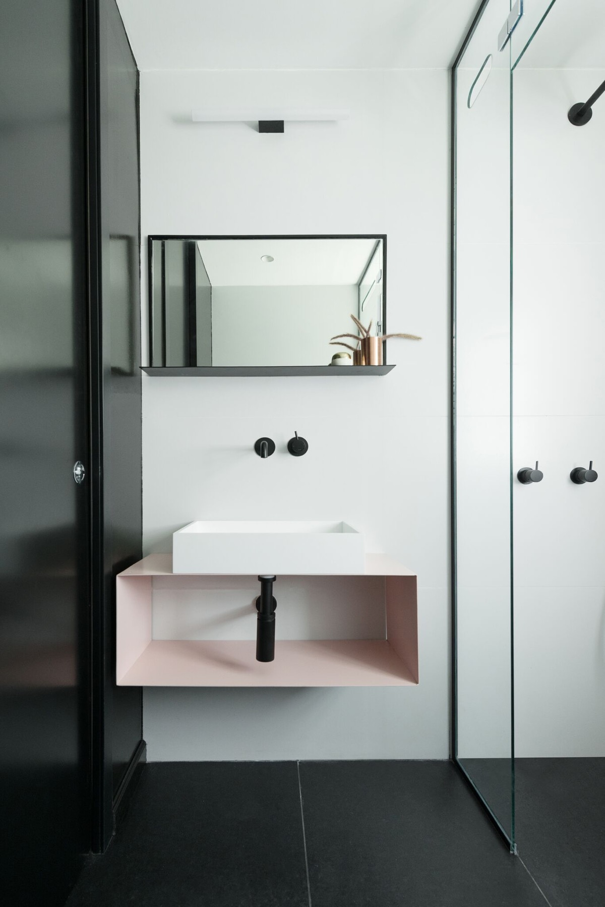 Pink Bathroom Vanity Unit