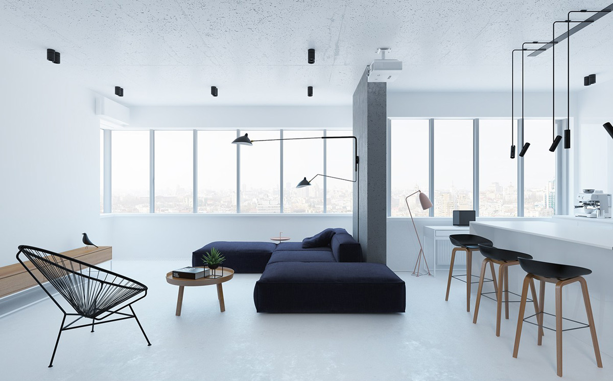 34  40 Gorgeously Minimalist Living Rooms That Find Substance In Simplicity
