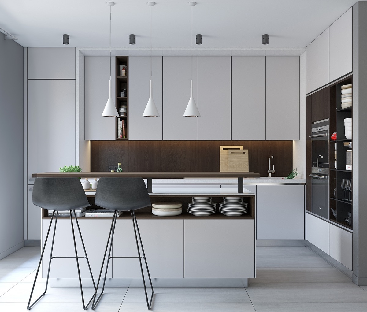 40 minimalist kitchens to get super sleek inspiration rh home designing com
