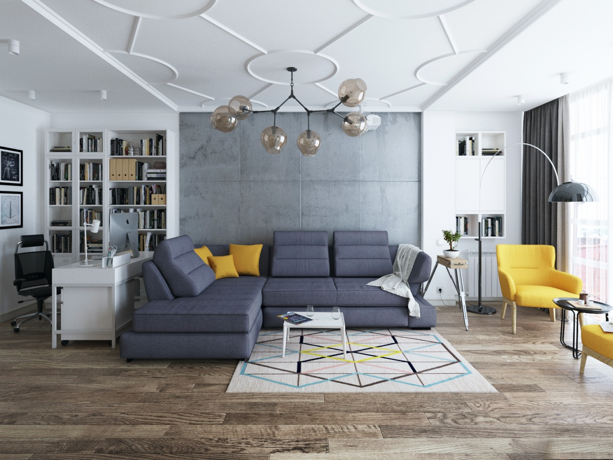 HOME DESIGNING: 40 Stylish Living Rooms That Use Concrete ...