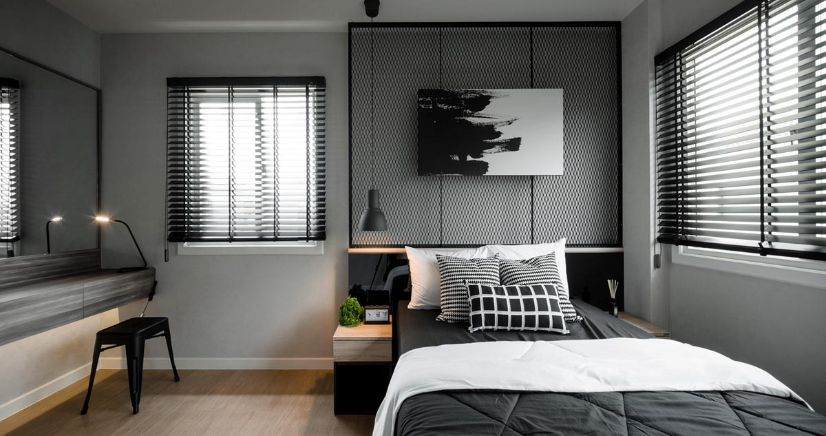 18 the bedroom is comfortable and modern