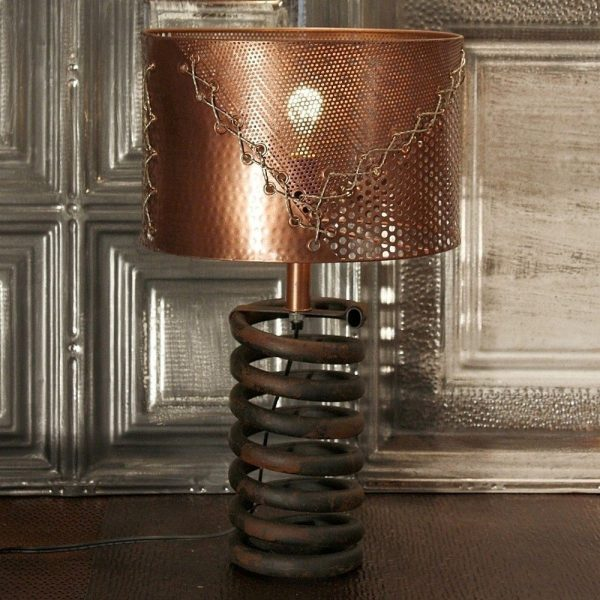 36 Cool Copper Table Lamps To Warm Up, Copper Mesh Lamp Shade