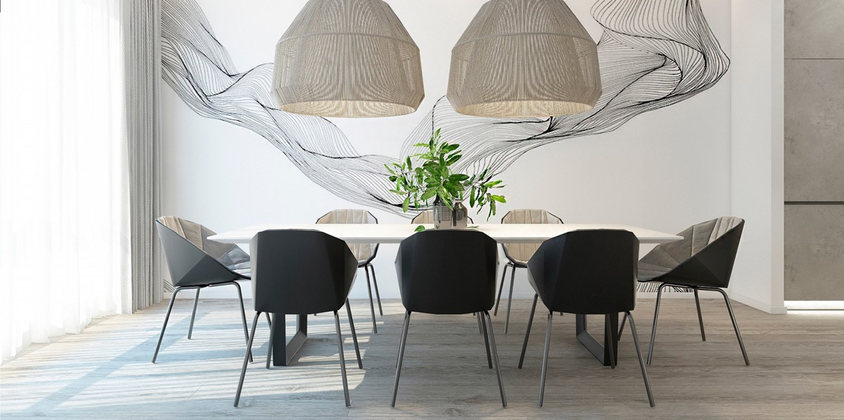 40 Minimalist Dining Rooms To Leave You, Minimalist Dining Room Table