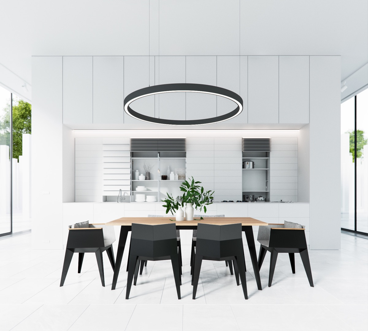 Black And White Dining Room Chairs: 40 Minimalist Dining Rooms To Leave You Hungry For Style