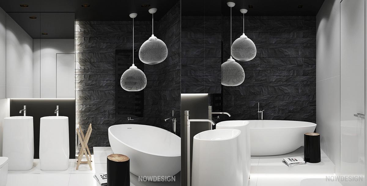 HOME DESIGNING: White U0026 Grey Interior Design In The Modern Minimalist Style