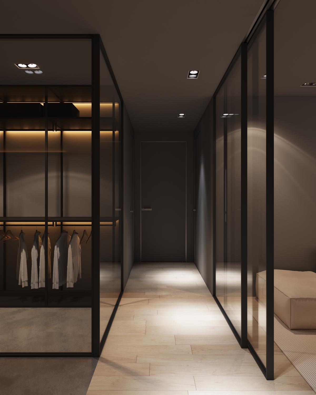 Dark Grey Home Decor With Warm LED Lighting