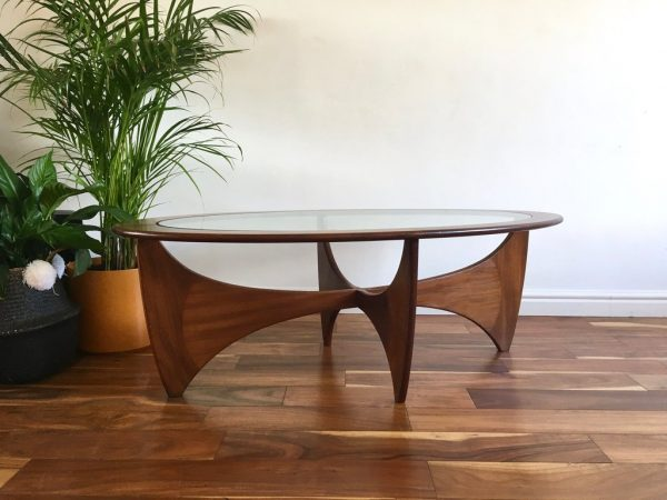246016fe331f BUY IT · Kardiel Mid-Century Modern Plywood With Glass Top Coffee Table  ...