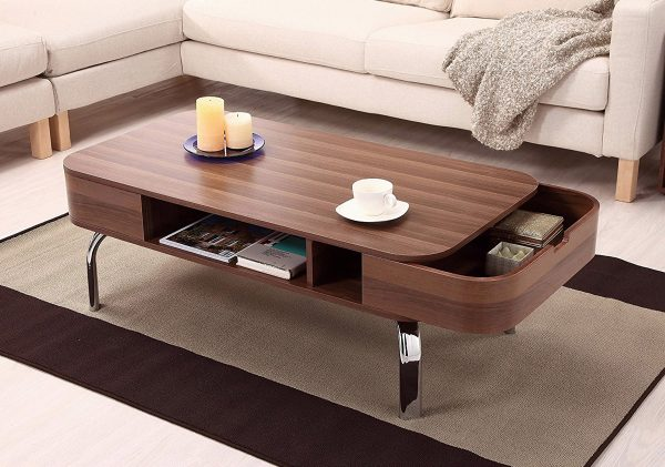 0d4f0c80219b BUY IT · Mid Century Rounded Rectangular Coffee Table  Hidden storage is  always a plus point in ...
