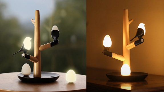 Product of the week cute rechargeable birds on a branch light