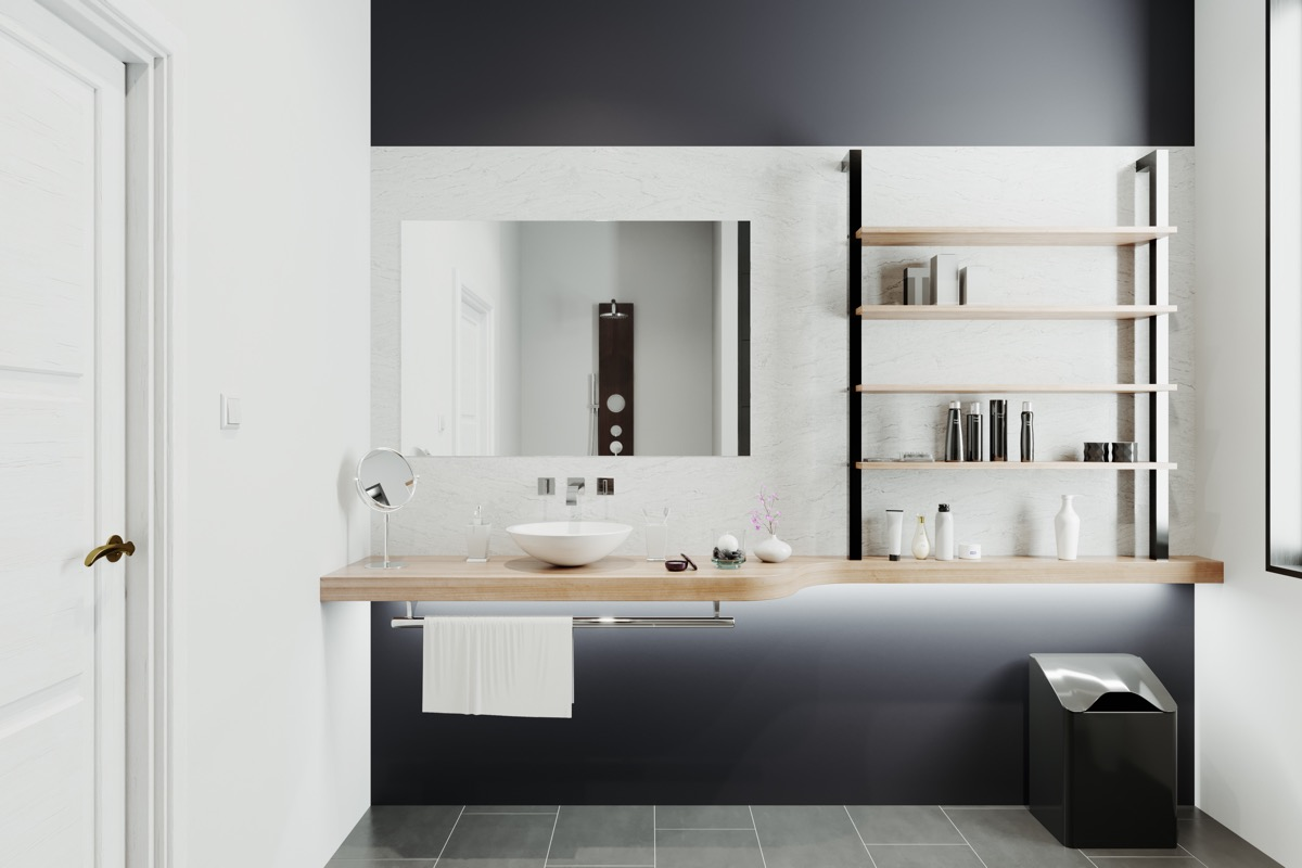 Home Designing 40 Modern Bathroom Vanities That Overflow