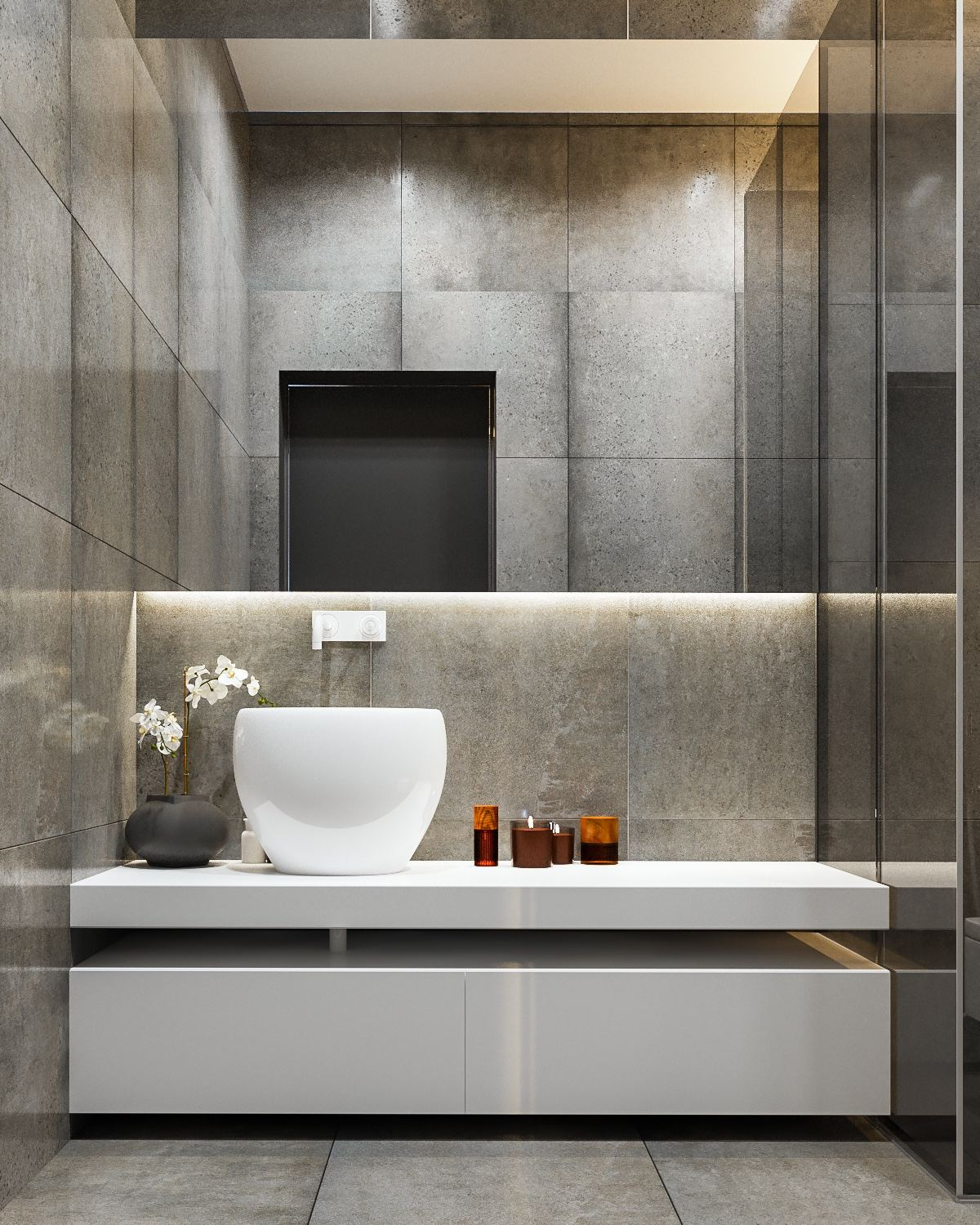 Interior Design Ideas & 40 Modern Bathroom Vanities That Overflow With Style
