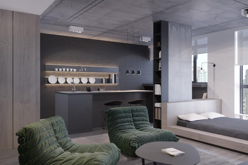 Small stylish four homes under 50 square meters