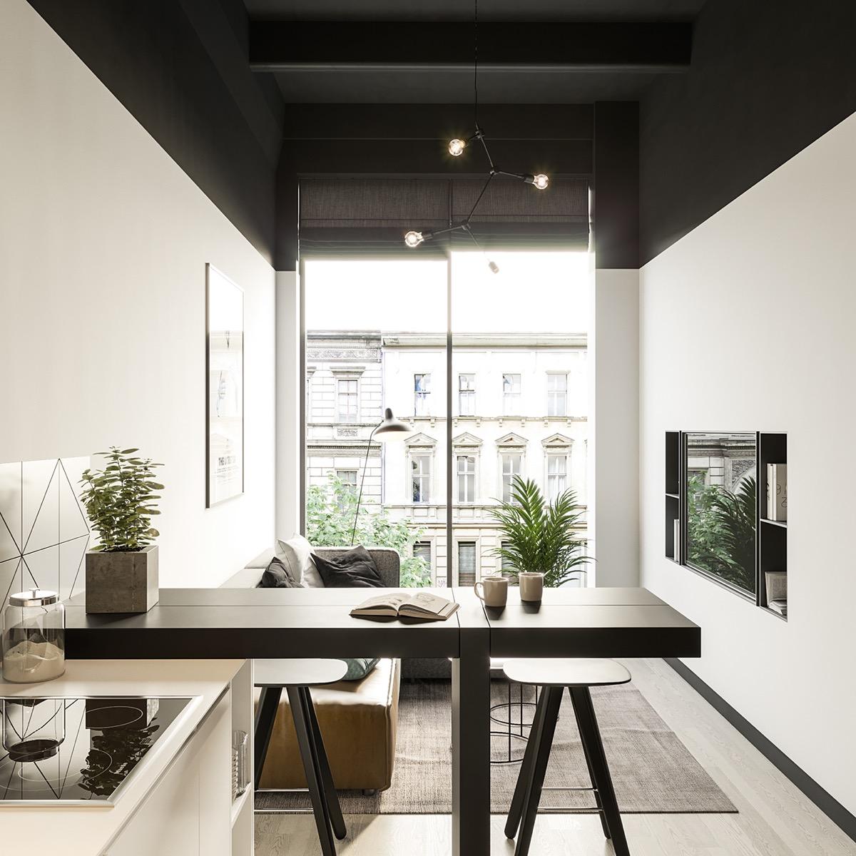 50 Square Meter Apartment Unconventional Interior Design