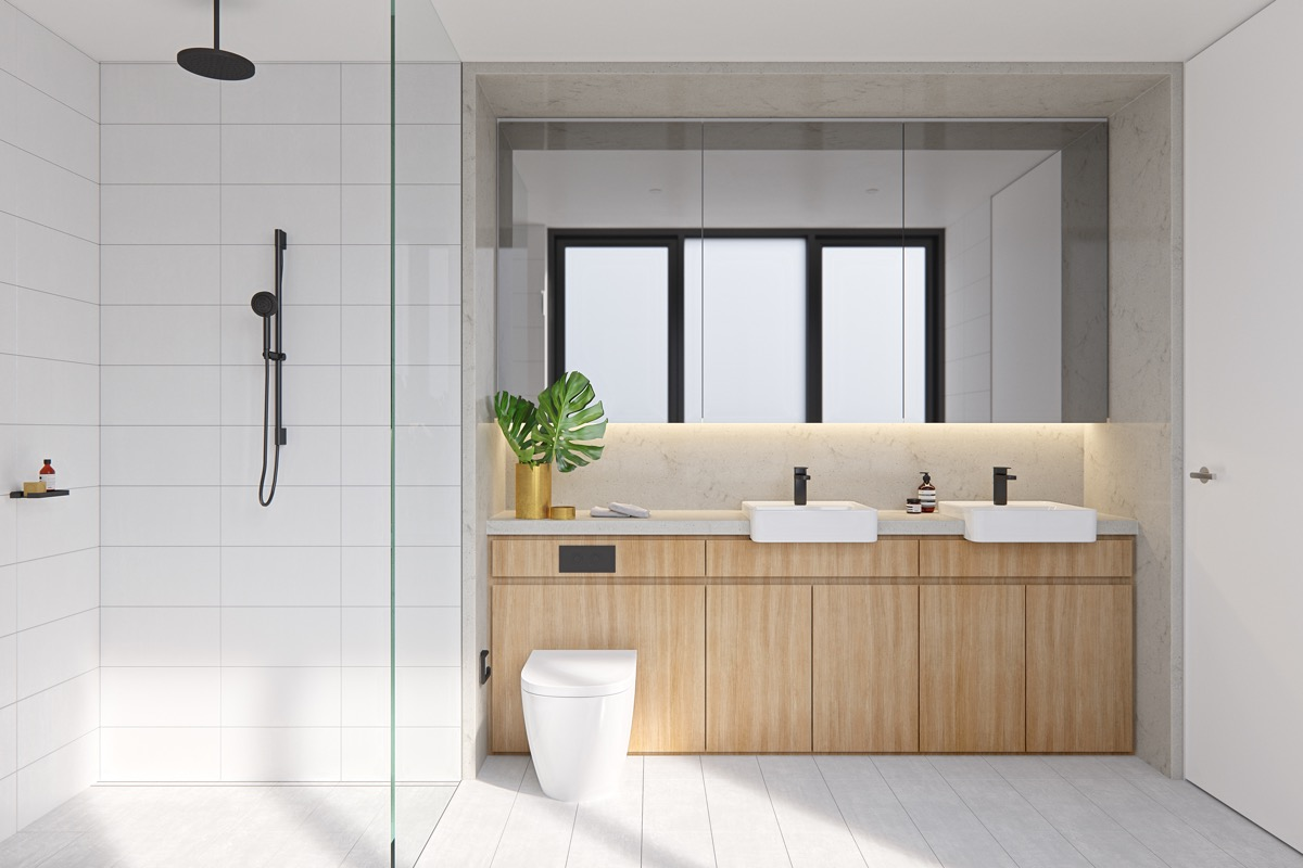9 Modern Minimalist Style Bathrooms