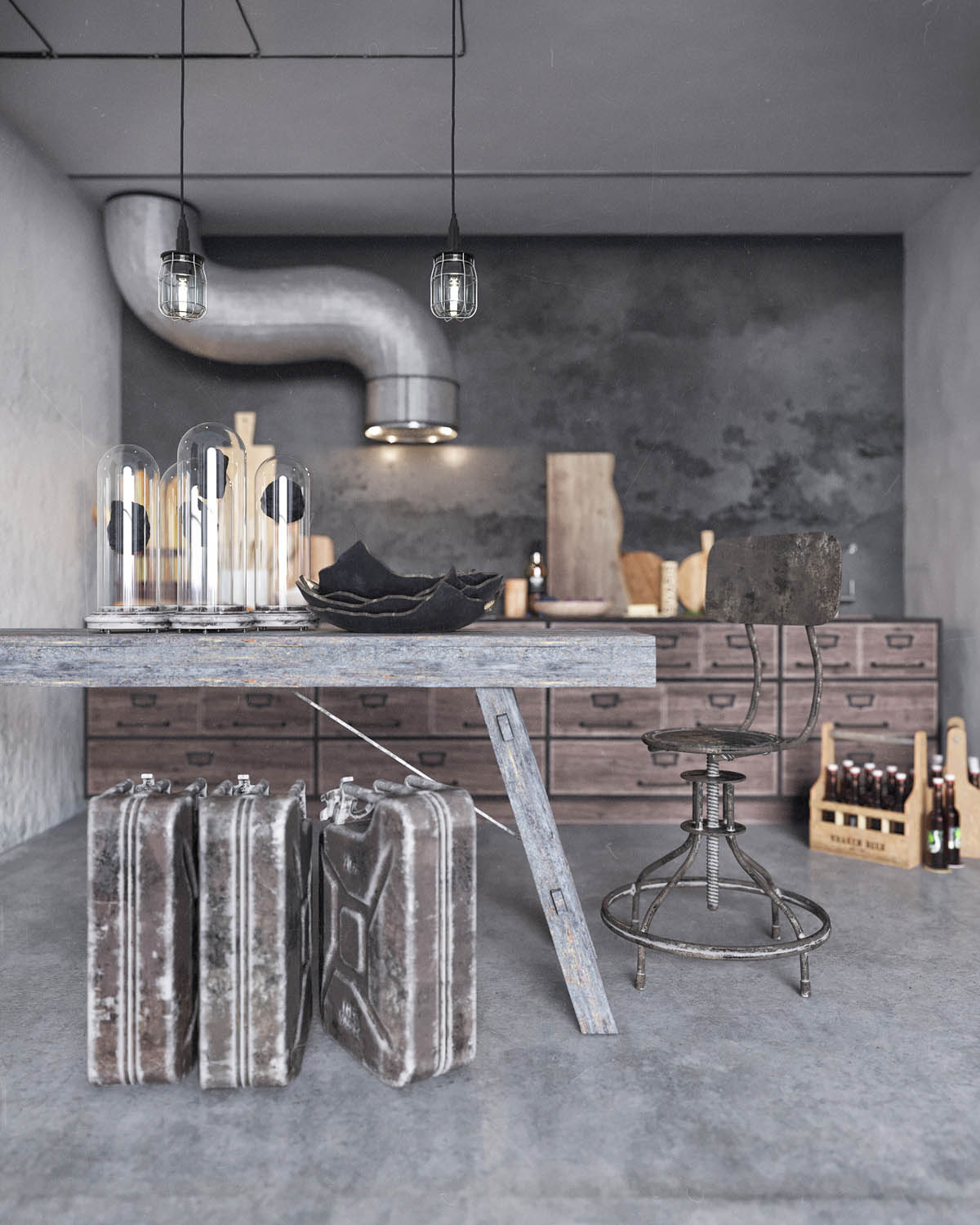 Industrial Home Design Spectacular Modern Industrial Home: Two Examples Of Industrial Modern Rustic Interior Design