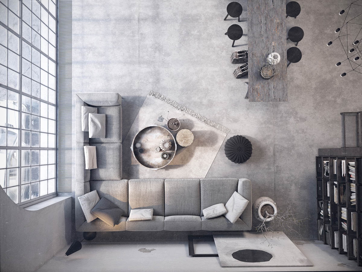 1 ... & Two Examples Of Industrial Modern Rustic Interior Design