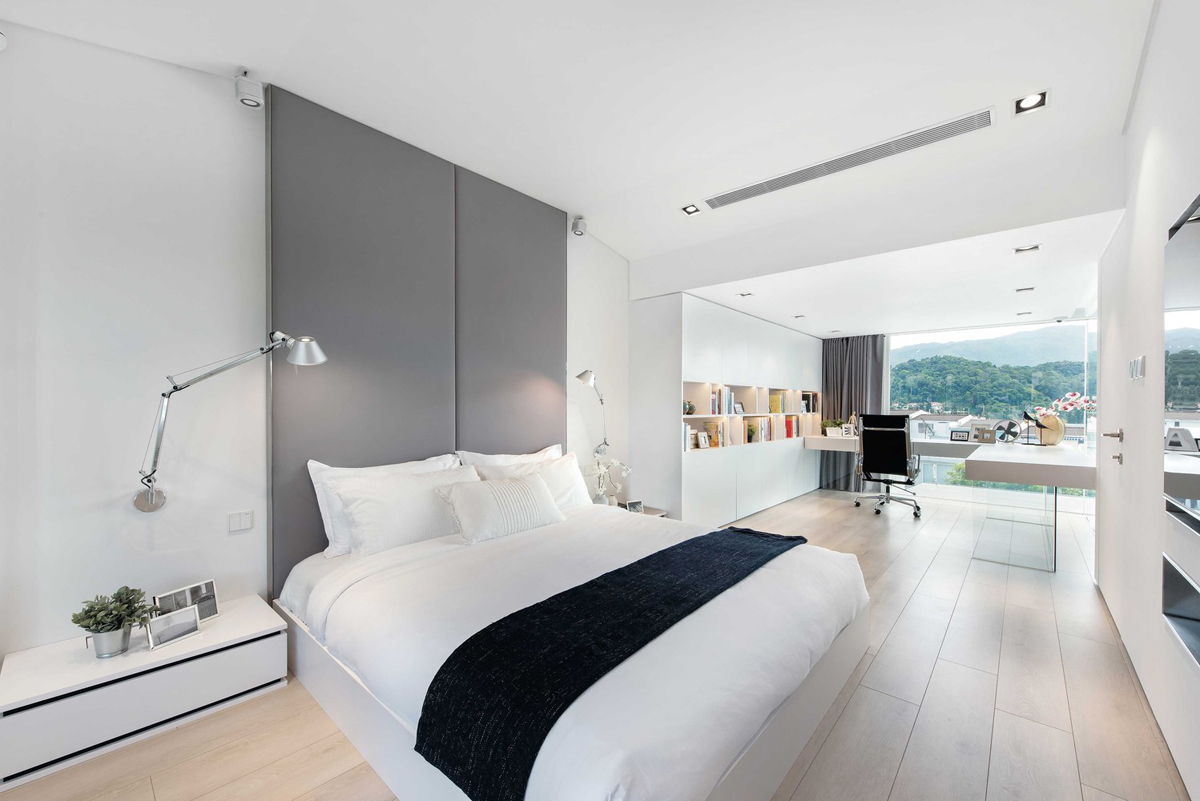 minimalist master bedroom a car lover s ideal home in hong kong 12404