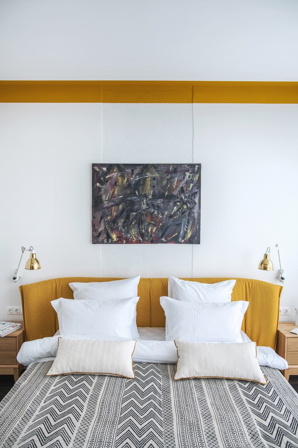 Green And Gold Interior With Modern Eclectic Vibe Includes Floor Plans
