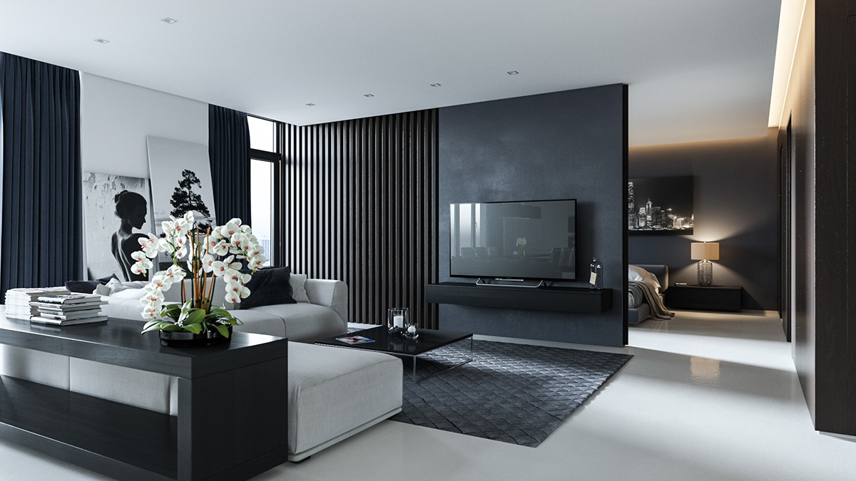 surprising black grey living room ideas | 40 Grey Living Rooms That Help Your Lounge Look ...