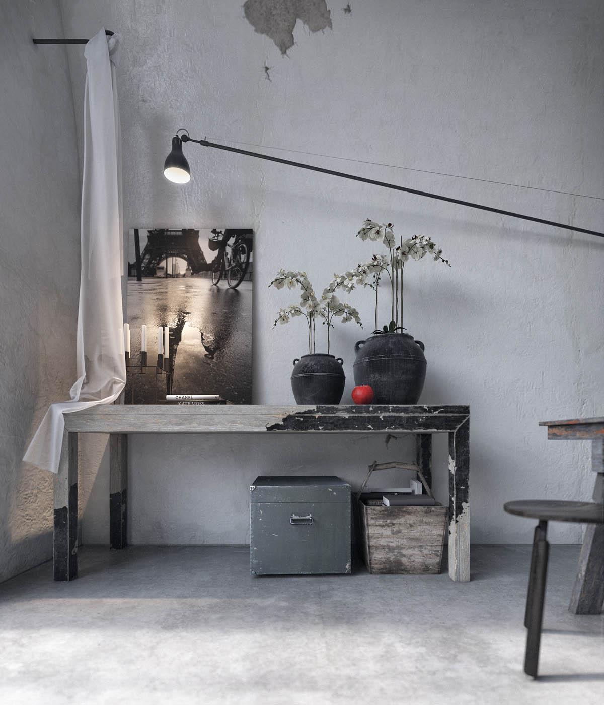 Interior Design Rustic Furniture: Two Examples Of Industrial Modern Rustic Interior Design