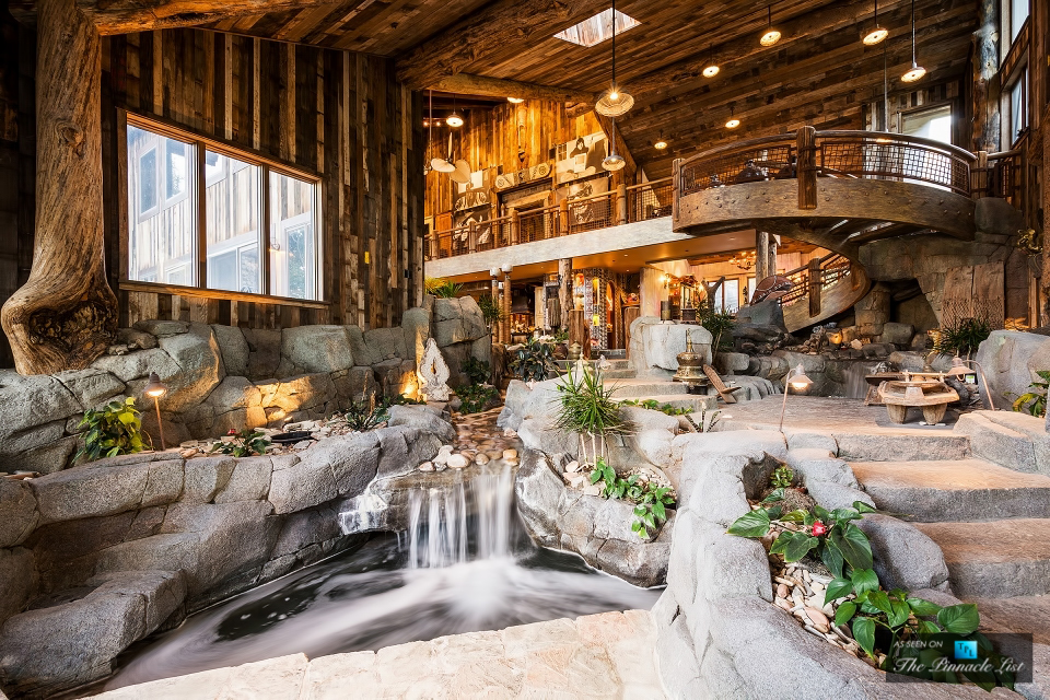 Rustic Mountaintop Mansion With Indoor