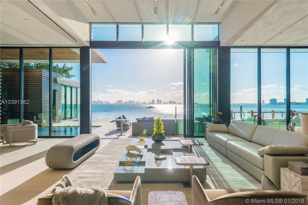 Modern Miami Mansion With Ocean Panorama