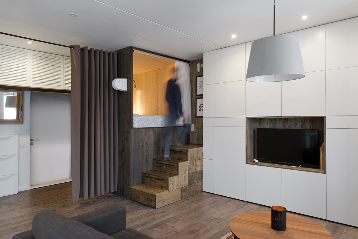 3 Tiny Interiors With Space Saving Adult Loft Beds