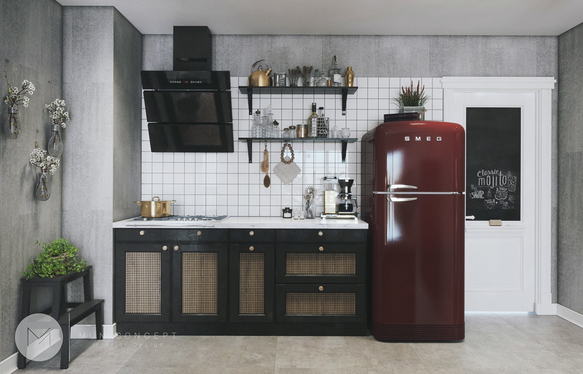 Smeg fridge   Interior Design Ideas