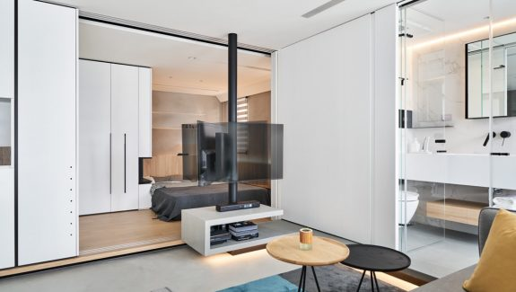 True Open Plan Apartment Under 50 Square Meters (500 Square Feet) With Floor Plan