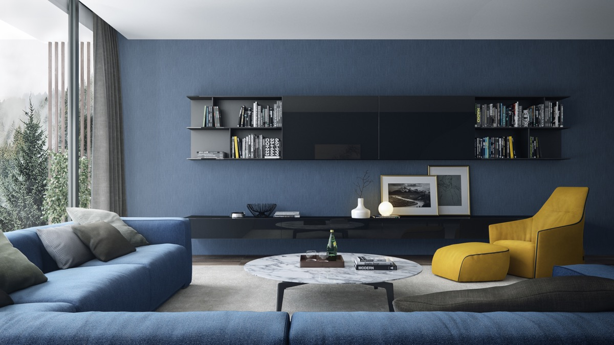 Picture of: 30 Blue Living Rooms To Relax The Mind Body And Soul