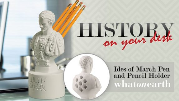 Product of the week ides of march pen and pencil holder