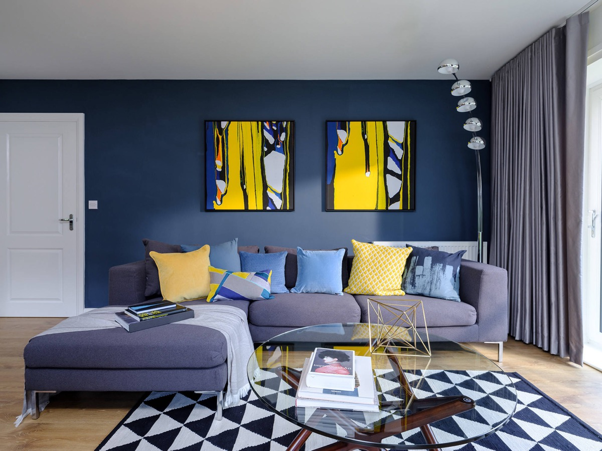 12 Blue Living Rooms To Relax The Mind, Body And Soul