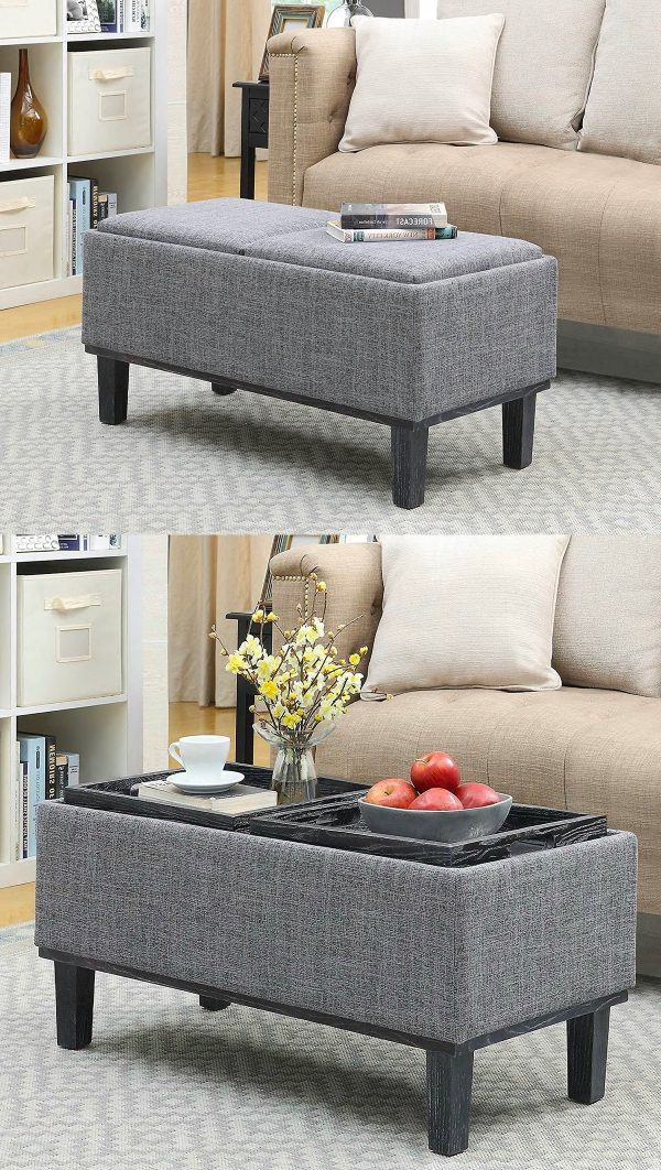 It Storage Ottoman Coffee Table